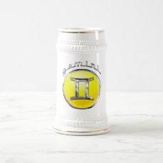 Gemini Beer Stein