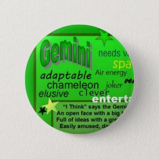 GEMINI BIRTHDAY BUTTON