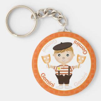 Gemini Boy Character Keychain