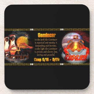 Gemini Cancer zodiac cusp by Valxart Coasters