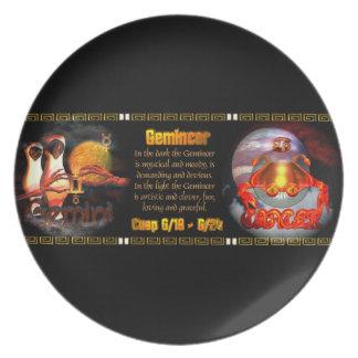 Gemini Cancer zodiac cusp by Valxart Party Plates