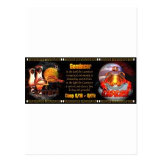 Gemini Cancer zodiac cusp by Valxart Postcard