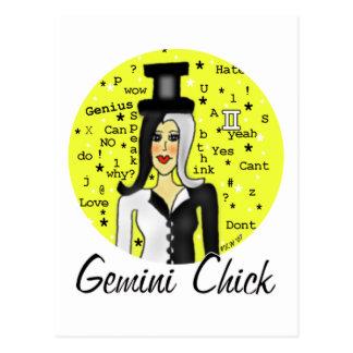 Gemini Chick Postcard