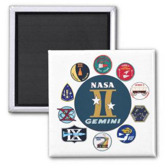 Gemini Commemorative Logo 2 Inch Square Magnet