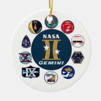 Gemini Commemorative Logo Ceramic Ornament