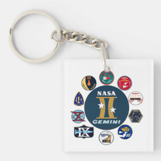 Gemini Commemorative Logo Keychain