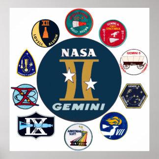 Gemini Commemorative Logo Posters