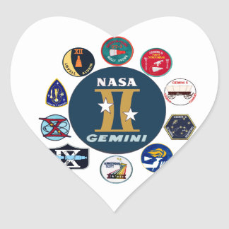 Gemini Commemorative Logo Heart Sticker