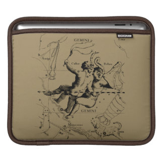 Gemini Constellation Map Engraving by Hevelius Sleeves For iPads