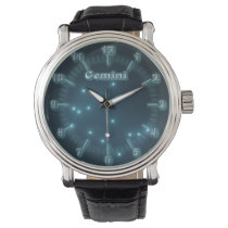 Gemini constellation wristwatch
