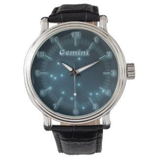 Gemini constellation wristwatch