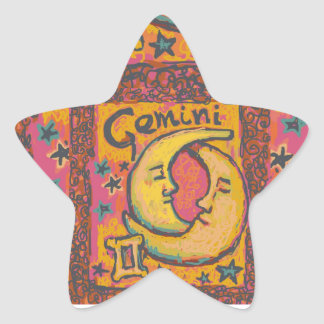 Gemini, Customizable Astrology Products Star Sticker