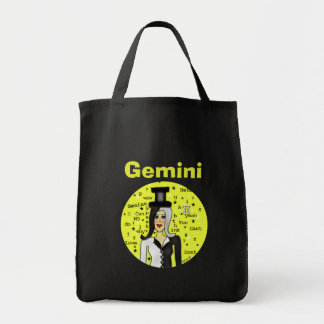 Gemini Dark Shopping Bag