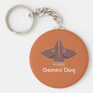 Gemini Dog - Zodiac keychain