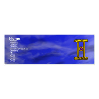 GEMINI Double-Sided MINI BUSINESS CARDS (Pack OF 20)