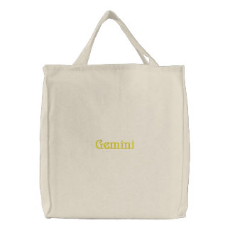 GEMINI EMBROIDERED BAGS
