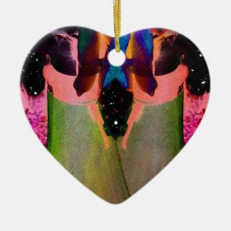 Gemini Fantasy Double-Sided Heart Ceramic Christmas Ornament