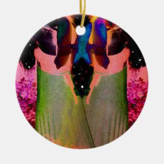 Gemini Fantasy Double-Sided Ceramic Round Christmas Ornament