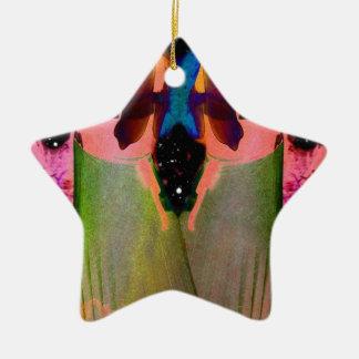 Gemini Fantasy Double-Sided Star Ceramic Christmas Ornament