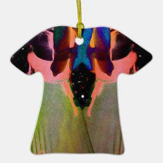 Gemini Fantasy Double-Sided T-Shirt Ceramic Christmas Ornament