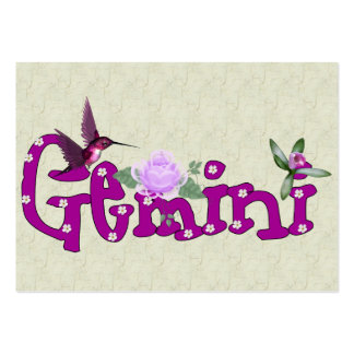 Gemini Flowers Large Business Cards (Pack Of 100)