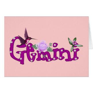 Gemini Flowers Card