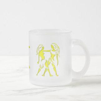 Gemini Frosted Glass Coffee Mug