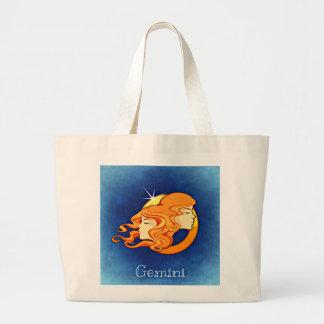 Gemini, Gemelli Large Tote Bag