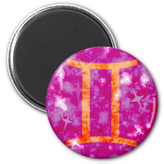 Gemini glitter and stars sparkly magnet