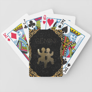 Gemini golden sign bicycle playing cards