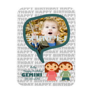 Gemini Happy Birthday Keepsake for kids Magnet
