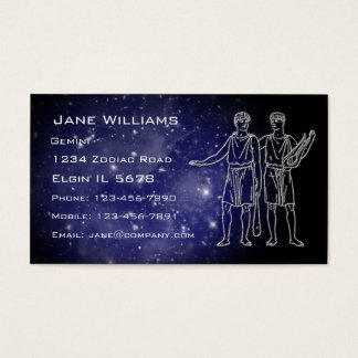 Gemini Horoscope Business Card