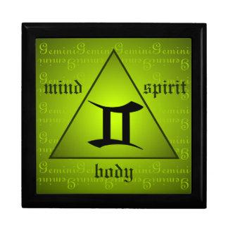 Gemini Horoscope Mind Body Spirit Triangle Green Gift Boxes