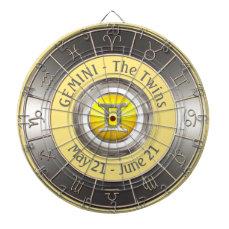 Gemini Horoscope Symbol Dart Board