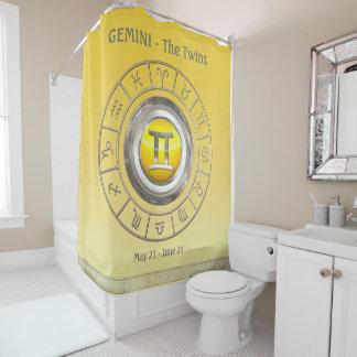 Gemini Horoscope Symbol Shower Curtain