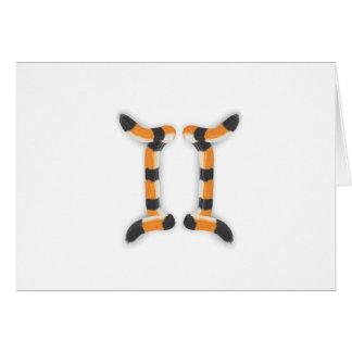 """Gemini in Tiger's Style"". Card"