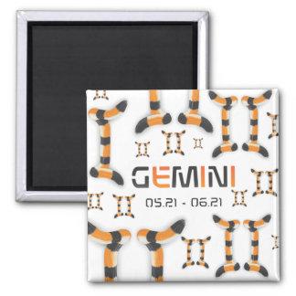 """Gemini in Tiger's Style"". Magnet"
