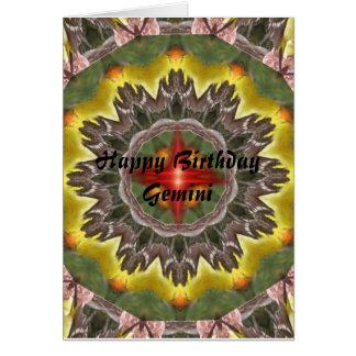 Gemini Mandala, Happy Birthday Gemini Card