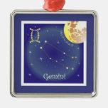 Gemini May 21 tons of June 21 ornamentation Square Metal Christmas Ornament