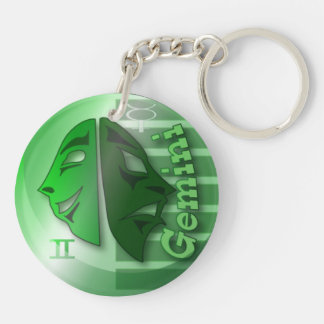 Gemini-May 22 to June 21 Double-Sided Round Acrylic Keychain