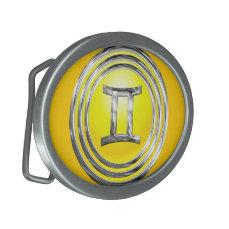 Gemini Oval Belt Buckle