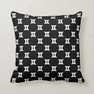 Gemini Pattern Black and White Pillow