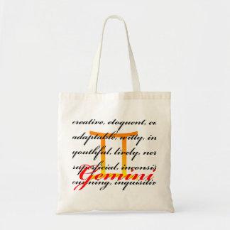 Gemini Personality (Hot Colors) Tote Bags