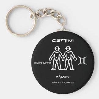 Gemini Personalized Keychain