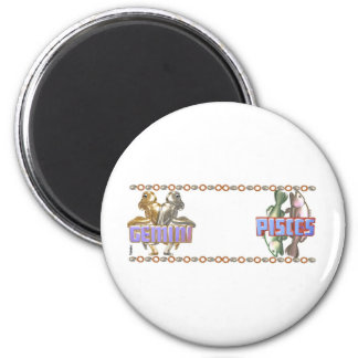 Gemini Pisces astrology mugmates cups Magnet