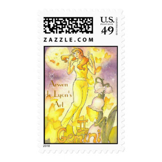 Gemini Postage Stamp