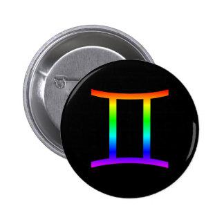 Gemini Rainbow 2 Inch Round Button