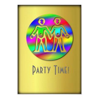Gemini Rainbow Color Twins Card