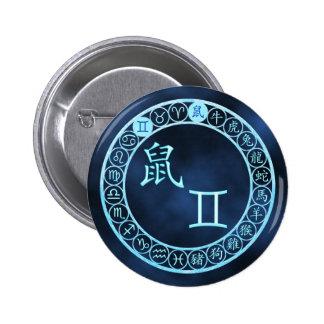 Gemini/Rat Pinback Button