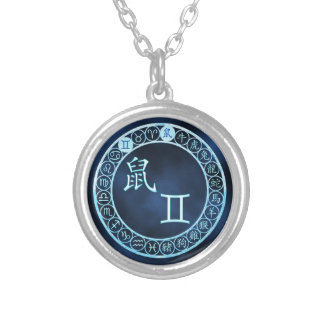 Gemini/Rat Silver Plated Necklace